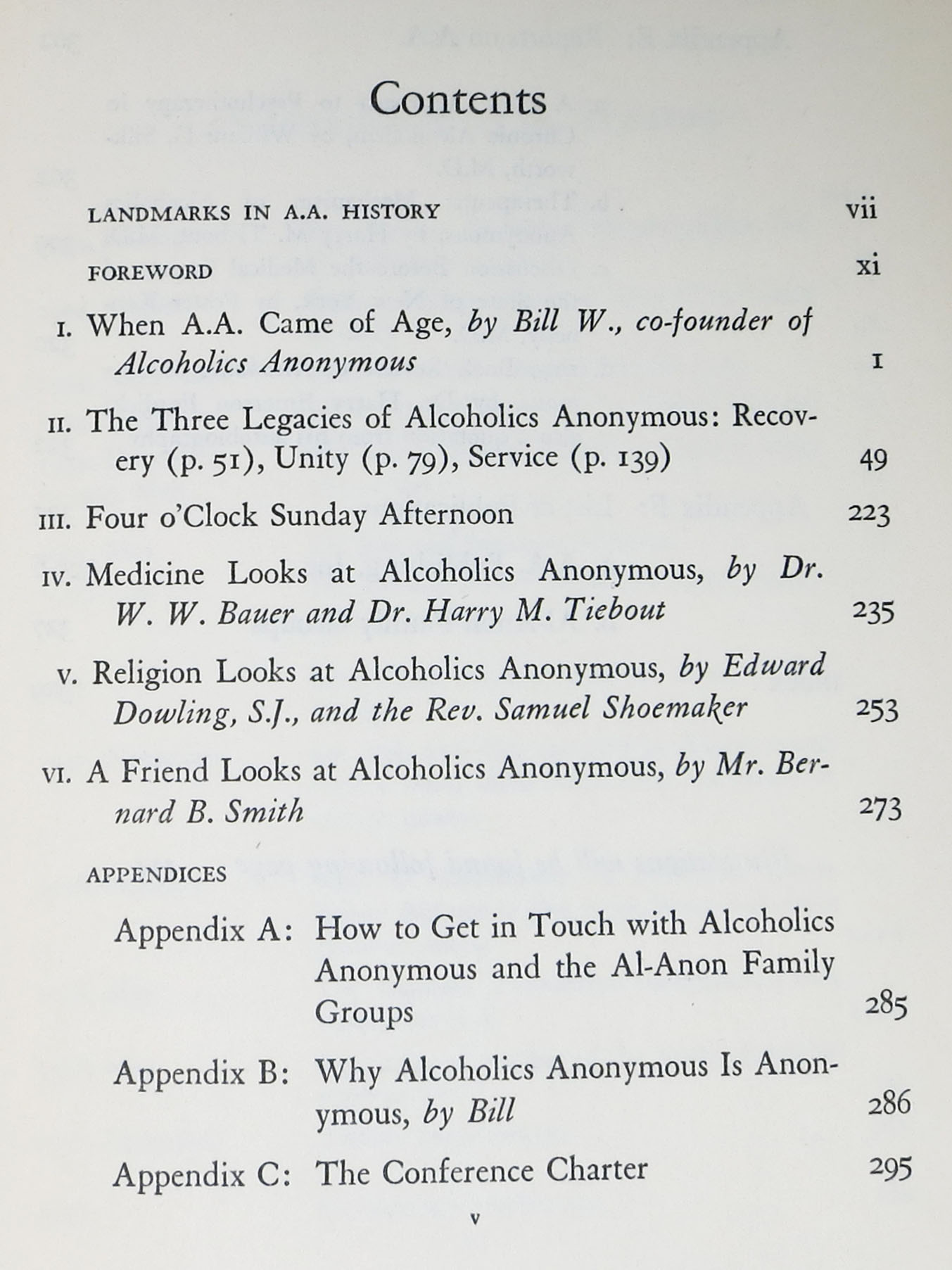 ALCOHOLICS ANONYMOUS COMES Of AGE  A Brief History of A A  by Bill -  Co-Founder Wilson, 1895 - 1971 on Tavistock Books
