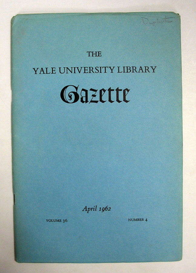 'Dickens's Manuscripts' in The Yale University Library Gazette. Volume 36, Number 4. John Butt.