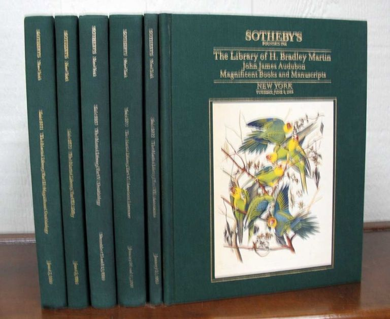 The LIBRARY Of H. BRADLEY MARTIN. Book Auction Catalogues.