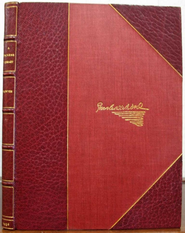 A DICKENS LIBRARY: The Sawyer Collection. Bibliography, Charles. 1812 - 1870 Dickens.