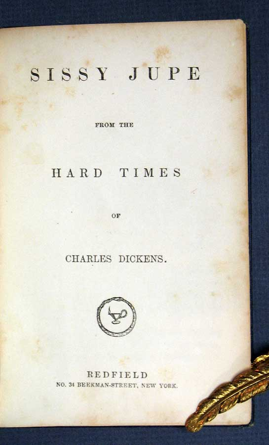 SISSY JUPE From The HARD TIMES. Dickens Little Folks. Charles Dickens, 1812 - 1870.