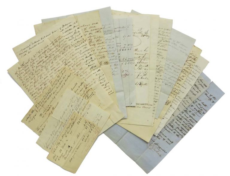 ARCHIVE Of ADAM H. ATKINSON'S MANUSCRIPT CORRESPONDENCE And DOCUMENTS REGARDING LAND PURCHASES In PENNSYLVANIA, INDIANA, And OHIO. Mexico, Juniata County, Pennsylvania, 1817 - 1853. Western Expansion, 1806 - 1852, Adam H. - Primary Correspondent / Recipient Atkinson.