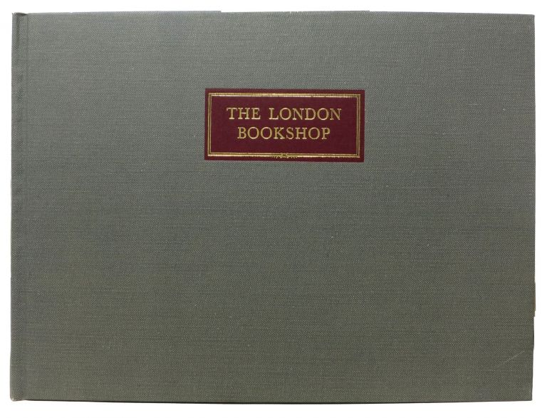 The LONDON BOOKSHOP. Being Part Two of a Pictorial Record of the Antiquarian Book Trade: Portraits & Premises. Richard. Brett Brown, Stanley.