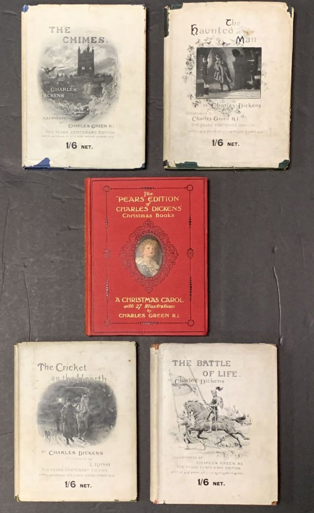 "The ""PEARS"" EDITION Of CHARLES DICKENS' CHRISTMAS BOOKS. A Christmas Carol. The Chimes. The Haunted Man. The Battle of Life. The Cricket on the Hearth.; With an Introduction to each by Clement Shorter. Charles . Shorter Dickens, Clement - Contributor, 1812 - 1870."