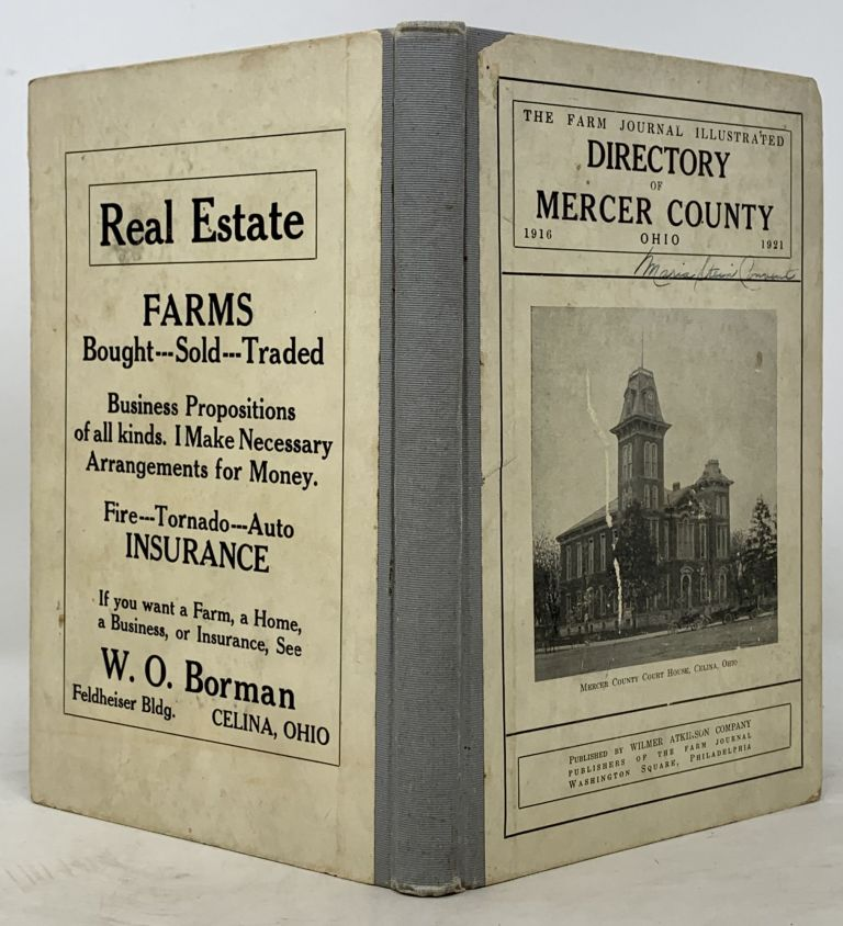 The FARM JOURNAL ILLUSTRATED DIRECTORY Of MERCER COUNTY OHIO (With a Complete Road Map of the County). County Directory.