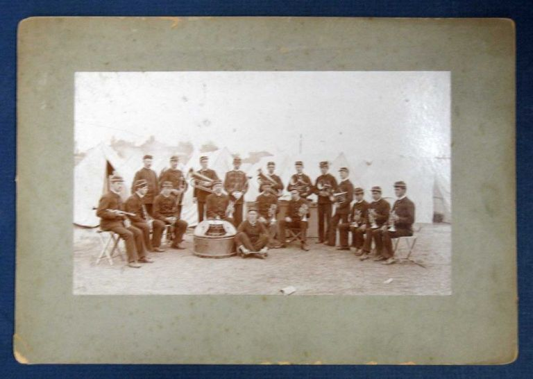 BOY'S BRIGADE BAND. In Camp at Santa Cruz Summer of 1895. Cabinet Photograph, Ed - Former Owner Leach.