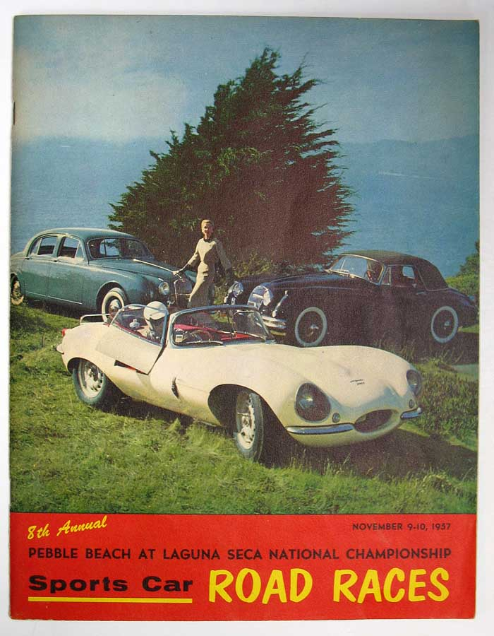 SPORTS CAR ROAD RACES. 8th Annual Pebble Beach at Laguna Seca National Championship. Novmeber 9 - 10, 1957. Event Program.