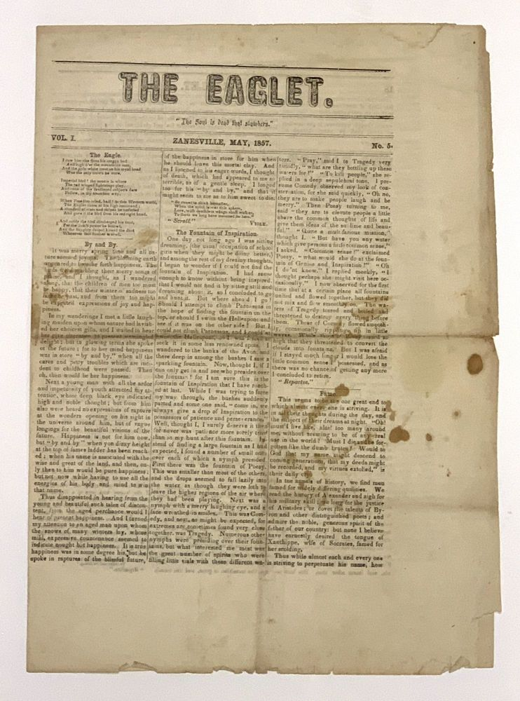 The EAGLET. Vol. I. No. 5. May, 1857. Mary Cox, Ellen G. - Editorial Committee Ross.