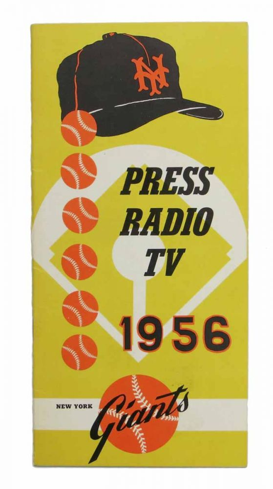 PRESS RADIO TV. 1956. New York Giants Baseball Team.