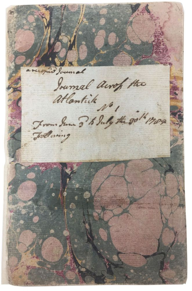 JOURNAL ACROSS The ATLANTICK. No 1. From June 3rd to July the 30th 1785. A Recopied Journal. [Manuscript Journal]. Thomas Paine, 1737 - 1809, John - Author Hall.