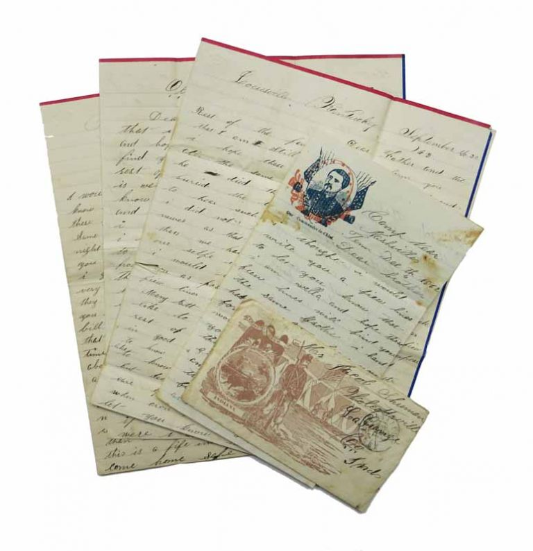 ARCHIVE Of SHUMAN FAMILY LETTER CORRESPONDENCE, August 1862 - September 1866. John Shuman, 1839? - 1863, Shurman also Shewman, Sherman.