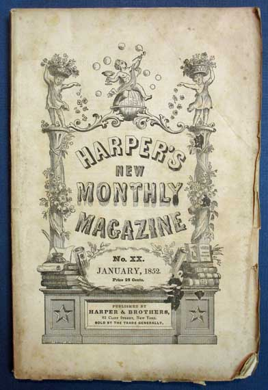 TO BE READ AT DUSK [as published in] Harper's New Monthly Magazine. No. XX. Vol. IV. January, 1852. Charles - Contributor Dickens, 1812 - 1870.