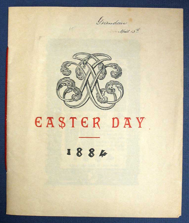 EASTER DAY - PRAISE YE The LORD. 1884. Religious Easter Pamphlet / Fine Press.