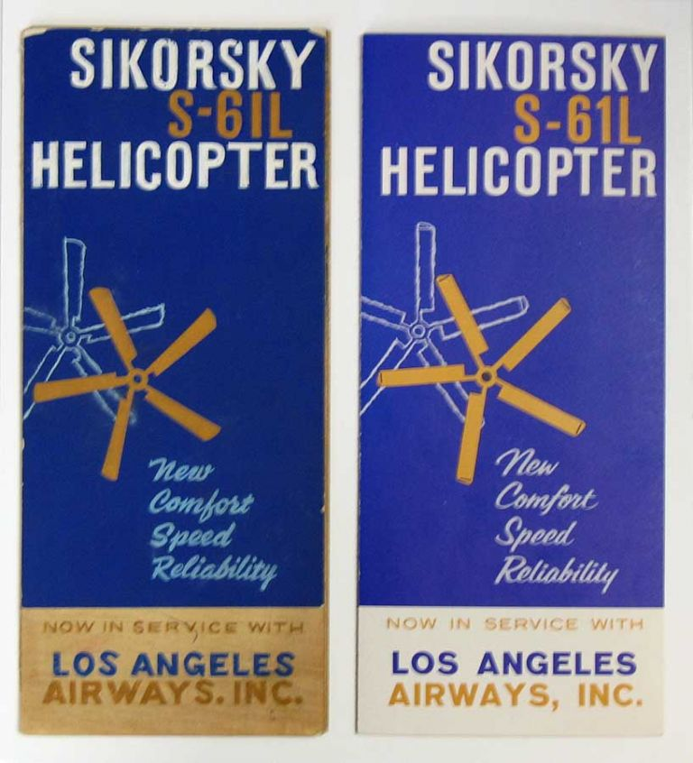 SIKORSKY S-61L HELICOPTER. Accompanied by Original Mock-up Artwork. Aviation Product Brochure.