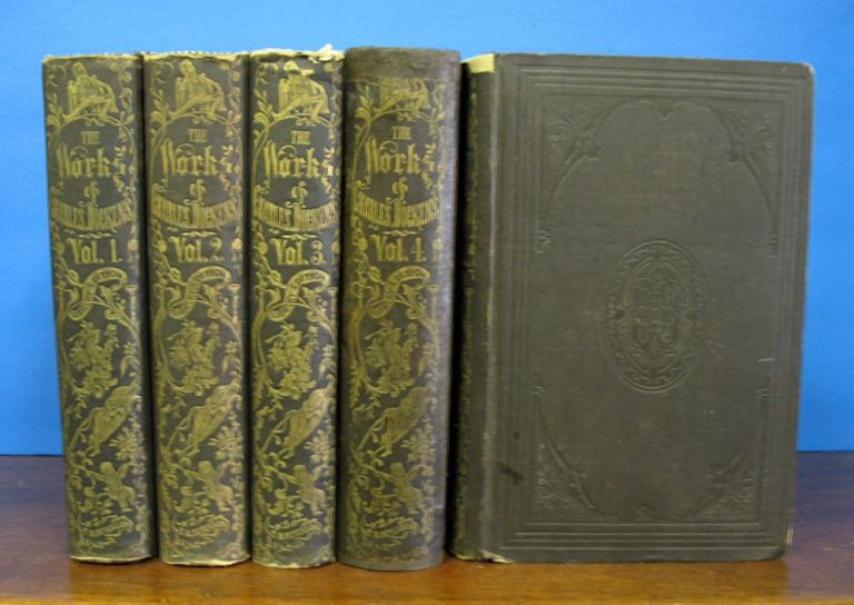"""The COMPLETE WORKS Of CHARLES DICKENS. (""""BOZ."""") In Five Volumes. Charles . Gaskell Dickens, Elizabeth, William - Contributors Howitt, 1812 - 1870, 1810 - 1865, 1792 - 1879."""