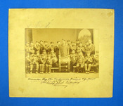 WINCANTON (?) DAY STAR TEMPERANCE DRUM & FIFE BAND. Sunday School Centenary Anniversary. 16 / 6 / 80. Cabinet Card Albumen Photograph / Souvenir.