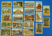 COLLECTION Of 20 CALIFORNIA COLOR POSTCARDS, Advertising Local History and Geography. California Color Postcards, Stanley A. - Publisher Piltz, 1887 - 1973.
