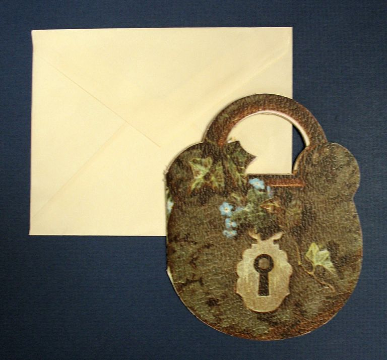 "A KEY To NATURE'S LOCK. Die-Cut Children's Poem. ""Cary"""