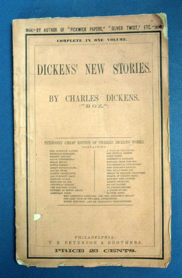 DICKENS' NEW STORIES. Charles . King Dickens, Louisa, Gaskell Mrs, William - Contributors Howitt, 1812 - 1870.