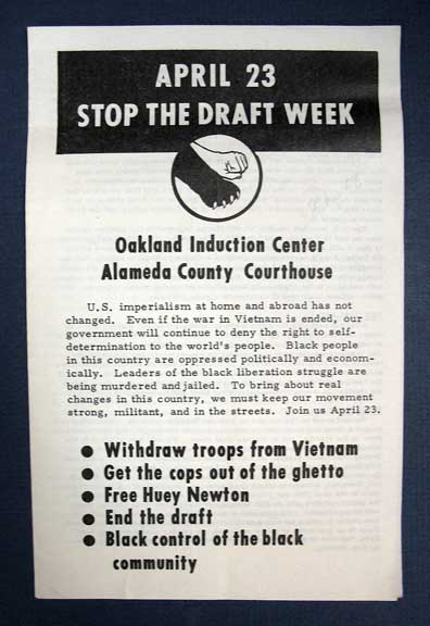 APRIL 23 STOP The DRAFT WEEK. Oakland Induction Center - Alameda County Courthouse. Stop the Draft Week.