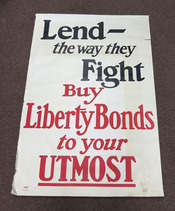 LEND - The WAY THEY FIGHT. Buy Liberty Bonds to Your Utmost. Form F. 206. World War I. Poster, Lutz, Sheinkman - Litho.