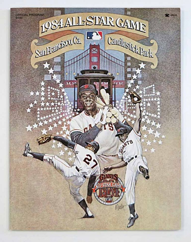 1984 ALL STAR GAME. San Francisco, Ca. Candlestick Park. Official Program. Baseball Official Program.