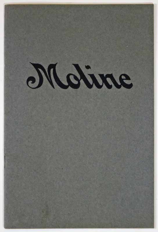 MOLINE AUTOMOBILES. Automobile Advertising Promotional Booklet.