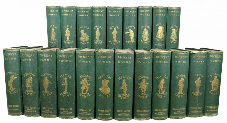 DICKENS' WORKS. People's Duodecimo Edition. 21 Volumes, Complete. Charles . MacKenzie Dickens, R. Shelton, 1812 - 1870.