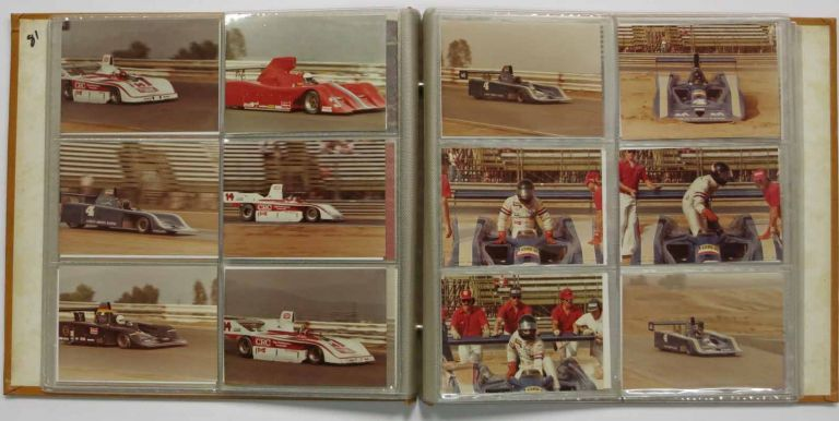 CAN-AM CAR RACE - 1981. Photograph Album, Al Holbert, Geoff Brabham, Randy Lewis, Graham MacRae, Danny - Pictured drivers. Newman Sullivan, Paul - Pictured owner, 1946 - 1988, b. 1952, b. 1945, b. 9140, b. 1950, 1925 - 2008.