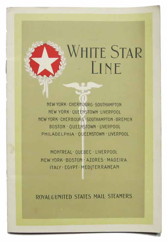 WHITE STAR LINE. S. S. PITTSBURGH. From New York Tuesday, August 19, 1924. To Hamburg via Cherbourg and Southampton. List of Cabin Passengers [accompanied by] PLAN Of CABIN ACCOMMODATION [Oct 1922]. Ocean Liner Passenger Ephemera, Marion Talley, Mrs Charles N. - Passengers, 1906 - 1983.