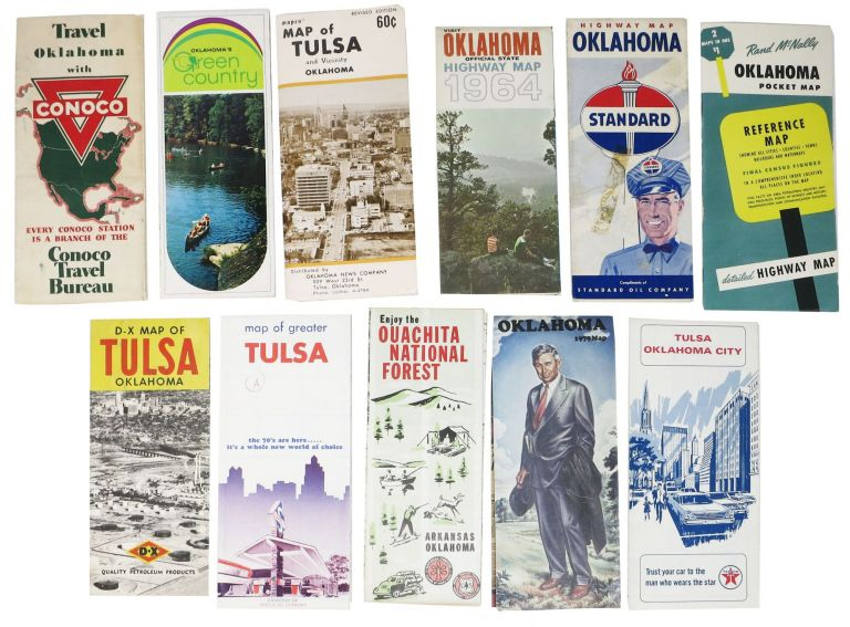LOT Of OKLAHOMA ROAD, HIGHWAY And AREA MAPS. 1940s - 1979. Travel.