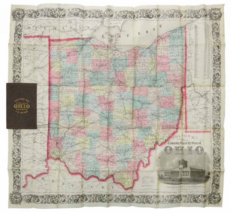 COLTON'S RAILROAD & TOWNSHIP MAP Of The STATE Of OHIO. H. Colton, oseph, 1800 - 1893.