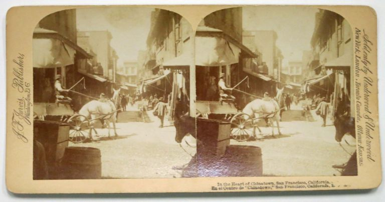 In The HEART Of CHINATOWN, San Francisco, California. San Francisco California Stereoview.