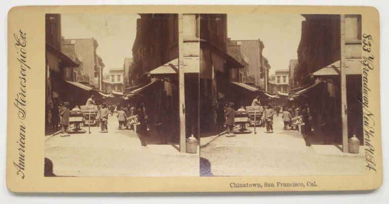 CHINATOWN, San Francisco, Cal. San Francisco California Stereoview.