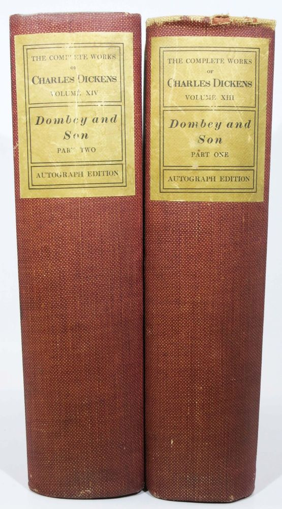 DOMBEY And SON. Part I. Part II. The Complete Works of Charles Dickens. Volume XIII. Volume XIV.; Introduction by Edward Dowden. Edited with Annotations, Bibliography, and Topography by Frederic G. Kitton. Charles . Dowden Dickens, Edward, Frederic G. - Contributors Kitton, 1812 - 1870.
