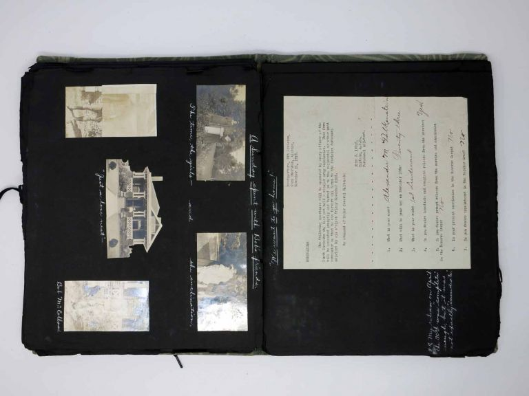 [Scrapbook DOCUMENTING a STATESIDE WORLD WAR I OFFICER'S TRAINING & SERVICE]. Alexander M. Falkenstein, Scrapbook / WWI.