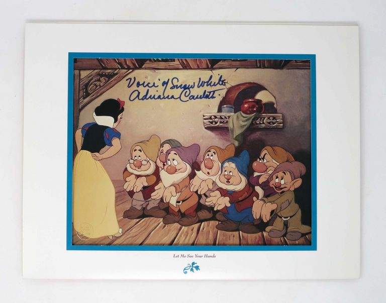 "WALT DISNEY'S MASTERPIECE SNOW WHITE and the SEVEN DWARFS SPECIAL EDITION LITHOGRAPH.; ""Let Me See Your Hands."" Walt Disney / Snow White."
