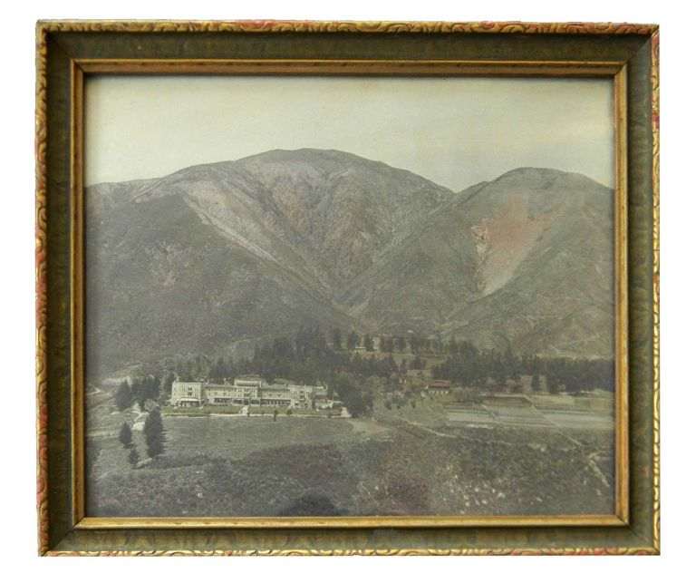 LANDSCAPE PHOTOGRAPH OF MOUNTAINSIDE, ARROWHEAD SPRINGS HOTEL. Photograph - San Bernadino.