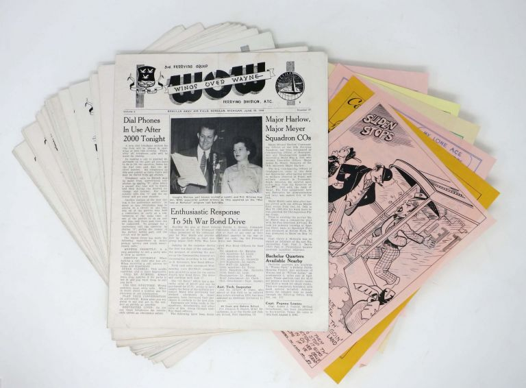 20 ISSUES Of WINGS OVER WAYNE [with] WARTIME LEAFLETS; Vol. 2. Nos. 26-33, 35-38, 41-46, 49, 51. Vol. 3. No. 10. Ferying Division Third Ferrying Group, ATC.
