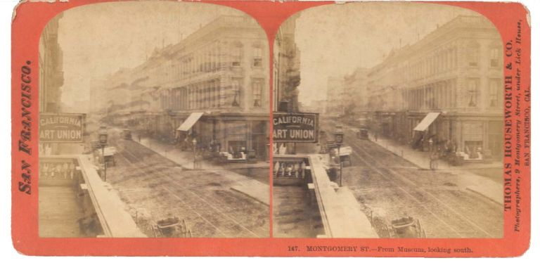 147. MONTGOMERY ST.--From Museum, looking south. San Francisco California Stereoview.
