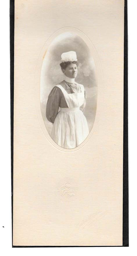 PHOTOGRAPH Of A NURSE. Nursing History.