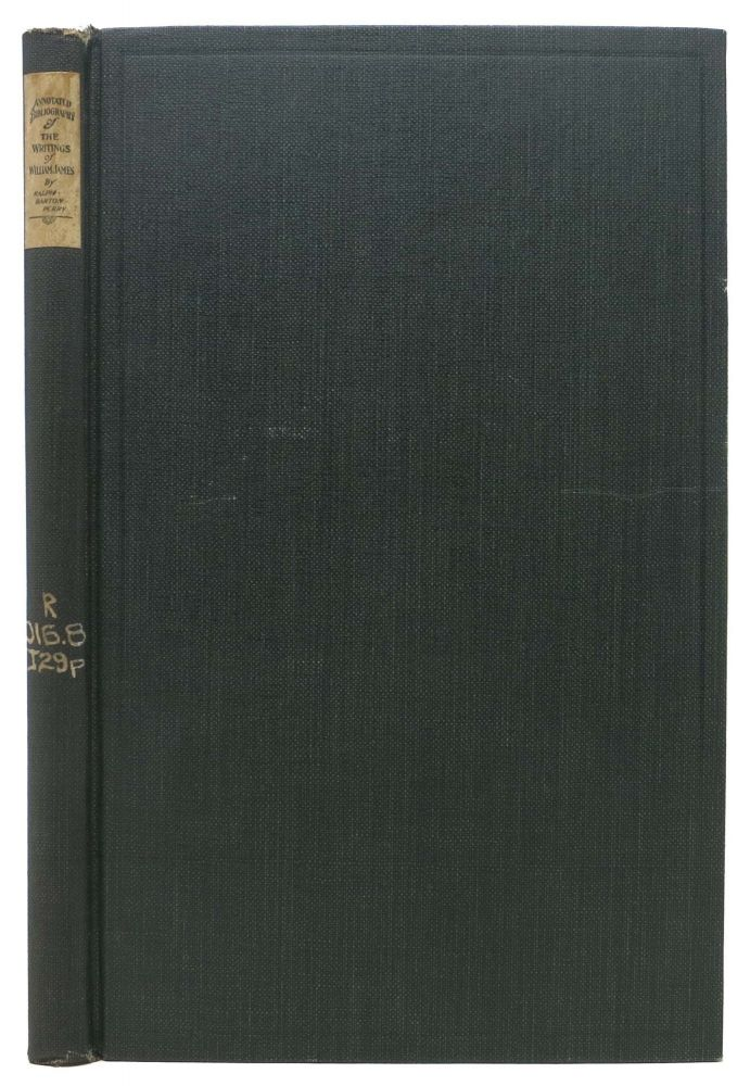 ANNOTATED BIBLIOGRAPHY Of The WRITINGS OF WILLIAM JAMES. Ralph Barton Perry, 1876 - 1957.