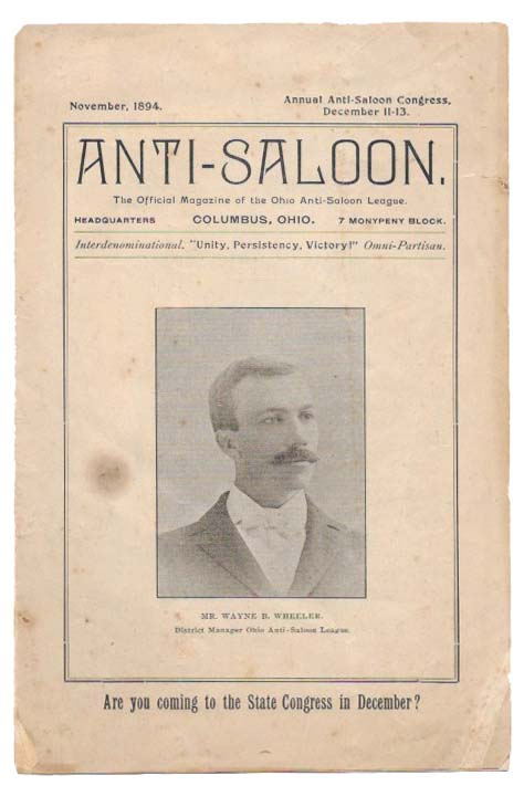ANTI-SALOON.; The Official Magazine of the Ohio Anti-Saloon League. Temperance.