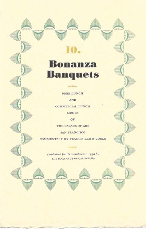 10 bonanza banquets free lunch and commericial lunch menus of the