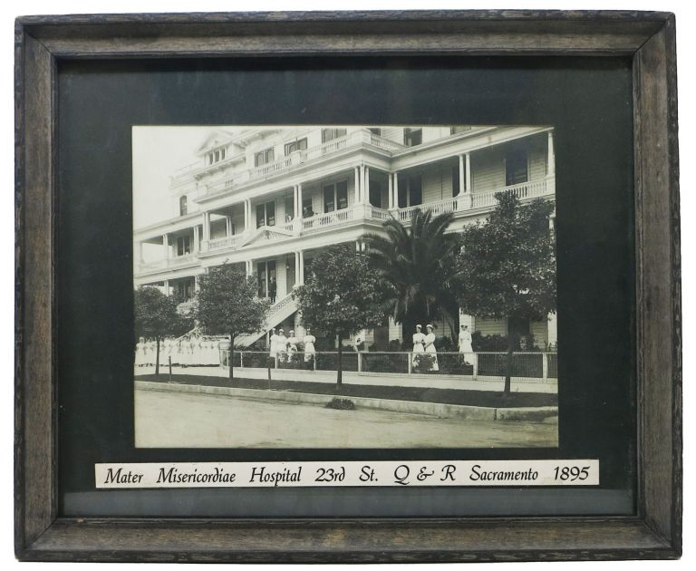 MATER MISERICORDIAE HOSPITAL. 23rd St. Q & R Sacramento 1895 [caption title]. Photograph - California Local History.