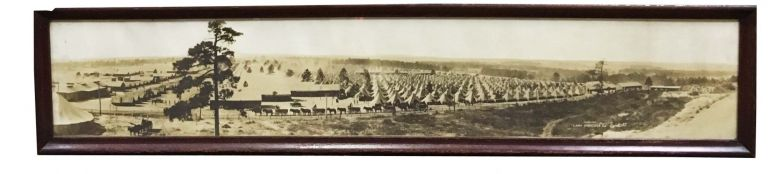"""CAMP HANCOCK GA."" -Infantry- B-37. World War I. Panoramic Siver Gelatin Photograph."