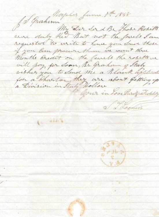 ALs to J. S. GRAHAM (?) From S. L. LOOMIS. S. L. Loomis.