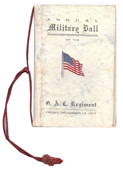ANNUAL MILITARY BALL Of The O. A. C. REGIMENT.; Oregon Agricultural College. Program.