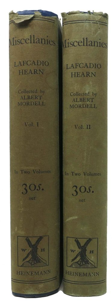 MISCELLANIES.; Articles and Stories Now First Collected by Albert Mordell. Lafcadio . Mordell Hearn, Albert -, 1850 - 1904.