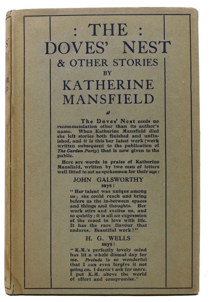 The DOVES' NEST And Other Stories. Katherine Mansfield, 1888 - 1923.